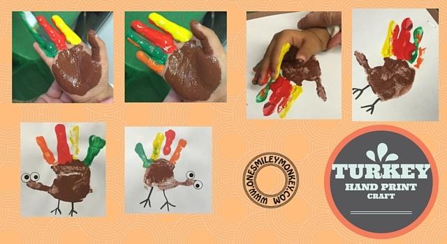 turkey hand print craft